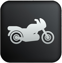 Motorcycle Insurance Black Button
